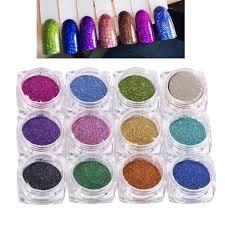 <b>12 Jars</b> / <b>Lot 12 colors Holographic</b> Glitter Laser Powder Nail Glitter ...
