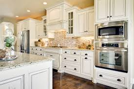 rustic white cabinets. Rustic White Kitchen Cabinets Design Look With Black Handles O