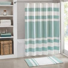 gray and teal shower curtain. madison park spa waffle weave 3m scotchgard fabric shower curtain gray and teal k