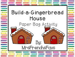 Build A Gingerbread House Activity Paper Bag Craft By