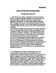 of world war thesis causes of world war 1 essay paper topics essays