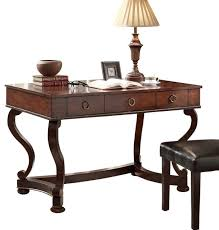 homelegance maule writing desk with 3 drawers in cherry traditional desks and hutches