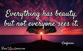 Confucius Beauty Quote Best Of Everything Has Beauty But Not Everyone Sees It PureLoveQuotes