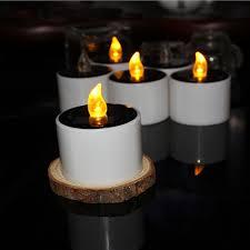 Candle Lighting 2018 2018 6pcs Led Solar Candle Light Tea Lamp Outdoor Warm White