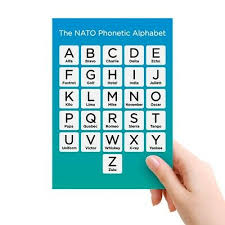 The phonetic alphabet or the spelling alphabet will show your customers that you want to get it right for them. Nato Phonetic Alphabet A5 Telephone Radio Home Working Office Police Military Ebay