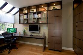 home office wall cabinets. Office Wall Design Ideas Home Contemporary With Custom Deskbookshelves Neutral Co Cabinets I
