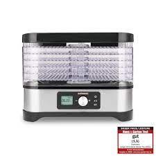 Gastroback 46600 Design Natural Plus, kurutma makinesi, 6 haşlama ızgarası,  2 müsli kilidi kalıbı, toplam dörf yüzeyi 4.800 cm2, sıcaklık 35 ila 70 °C  ayarlanabilir, 72 saat zamanlayıcı, gümüş, siyah: Amazon.com.tr