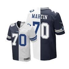 Jersey - Men's Football Jerseys Dallas Cowboys Elite Fashion Split Martin Zack Sale Navy white 70 Blue