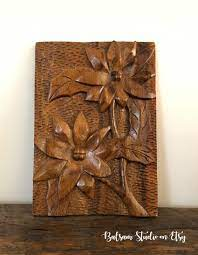 You can search the internet with paete. Wood Handcarved Flower Mural Wall Art Faith Woodcraft Paete Etsy Flower Mural Mural Wall Art Carved Wood Wall Art