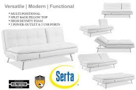 white leather futon sofa bed palermo