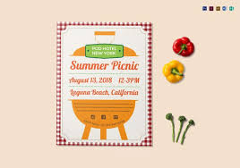 Picnic Template 14 Amazing Picnic Flyer Templates In Word Psd Publisher Free