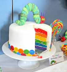 4660612cad330cf6b103b361e410d6c2 rainbow birthday party rd birthday best 20 hungry caterpillar cake ideas on pinterest caterpillar on hungry caterpillar birthday cake images