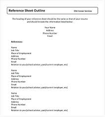 Employment Reference Sheet Character Reference Sheet Template Cycling Studio