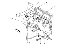 ground locations ref 2003 lower left side of the engine components