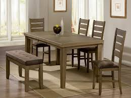 Dining Set With Bench Awesome Dining Room Tables With Benches Homesfeed