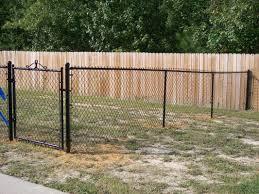 black chain link fence gate. Brilliant Fence 4u0027 Tall Black Chain Link With Walk Gate And Fence N