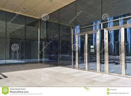 building glass door. closed doors in modern large glass building door l