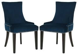 armed dining room chairs contemporary. safavieh - lester dining chairs, set of 2, navy chairs armed room contemporary n
