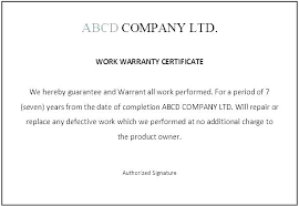 Limited Warranty Template
