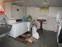Creativity Unfinished Basement Laundry Room Ideas E Throughout Concept