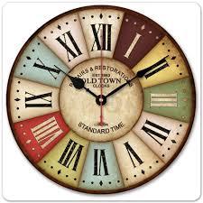 roman bath decor qua baths roman   cm vintage london old time clock roman numbers wood wall clock