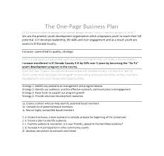 simple one page business plan template one page business plan template proposal letter jim horan 1