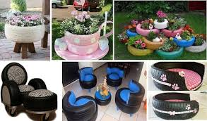 garden decoration. Brilliant Ways To Reuse Old Tires As A Garden Decoration