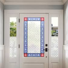 stained glass border with frosted pattern