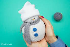 diy no sew sock snowman
