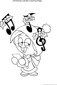 Christmas Caroler Coloring Page Http Www
