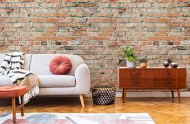 brick wallpaper brick effect wall