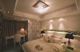 Cool Tiny Floating Nightstands Or Upholstered White Leather Headboard And  Luxury Bedroom Ceiling Lights Idea