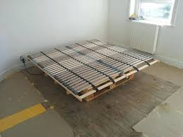 bed frame pallets diy wooden twin made out of built from
