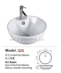 round ceramic sinks sanitary ware above counter mounting art basin bathroom wash