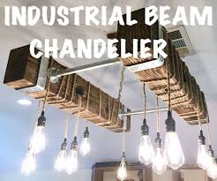 diy industrial beam chandelier with led edison bulbs 17 steps with pictures