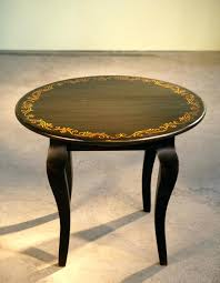 side table mahogany round hand painted coffee designs an