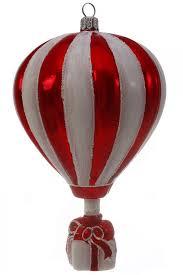 Christbaumschmuck Heißluftballon Rot Weiß
