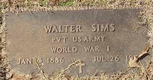 SIMS (VETERAN WWI), WALTER - Izard County, Arkansas | WALTER SIMS (VETERAN  WWI) - Arkansas Gravestone Photos