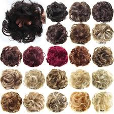 Online Shop <b>AOSIWIG</b> Synthetic <b>Chignon</b> With Rubber Band Brown ...