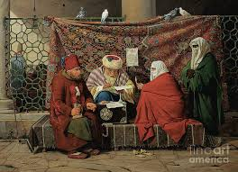 A Turkish Notary Drawing Up A Marriage Contract Painting By Martinus