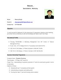 Resume Specialization: Marketing Name : Dheeraj Singh Email Id :  dheerajsingh8691@rediffmail.com ...