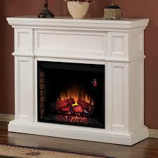simple electric fireplace mantel