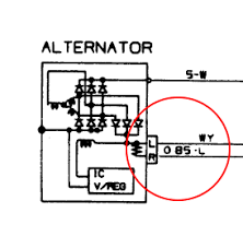 two additional alternator wires white and blue are they posted image 1986 mitsubishi starion