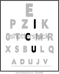 Are All Eye Exam Charts The Same Eye Exam Chart All Letters Grayed Stock Image Download Now