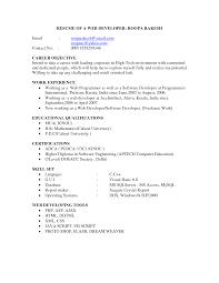 web developer resume in naturalresume com web developer resume in