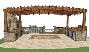 Making An Outdoor Kitchen Outdoor Kitchen Gazebo Plans Backyard And Yard Design For Village