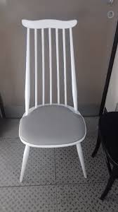 ercol kitchen dining chairs white with grey seat pads chairs refurbished by a professional