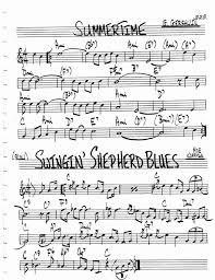 Jazz Standard Realbook Chart Summer Time In 2019 Saxophone