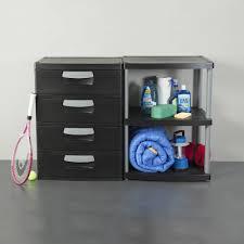 Dresser Drawer Shelves Sterilite 3 Shelf Unit Black Walmartcom