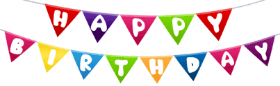Download Happy Birthday Streamer Png Png Images Background Toppng